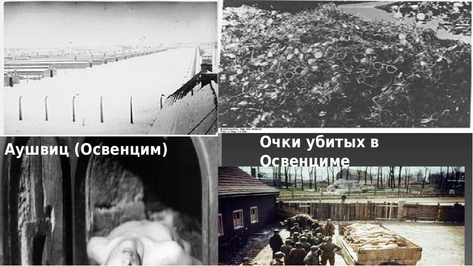Аушвиц (Освенцим) Очки убитых в Освенциме
