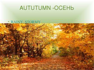 AUTUTUMN -ОСЕНЬ RAINY STORMY