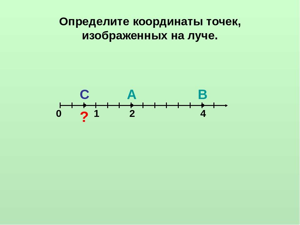 Картинки по координатному лучу