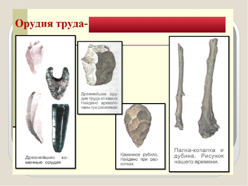 Картинки орудий труда в древнем мире