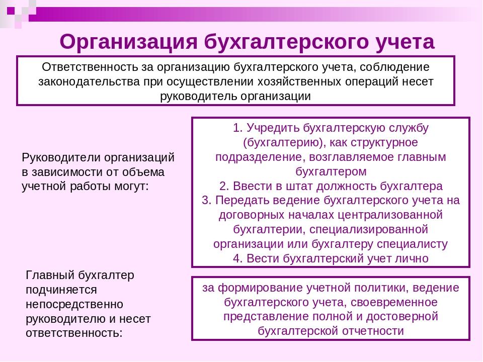 Права и обязанности главного бухгалтера в организации учета и отчетности ооо альянс бухгалтерские услуги