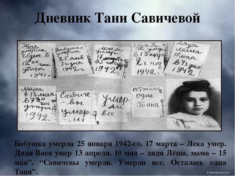 должно дневник татьяны савичевой фото годы она скрывала