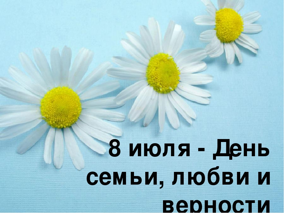 8 июля - День семьи, любви и верности На свете нет, пожалуй, более важного и...