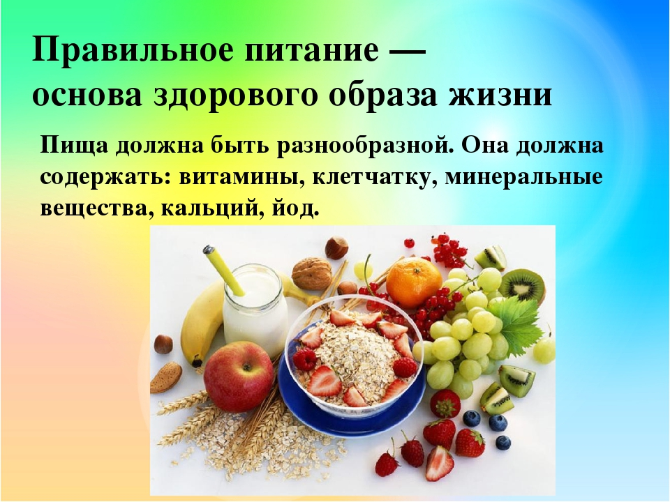 Правильное питание Меню на неделю Здоровый образ жизни
