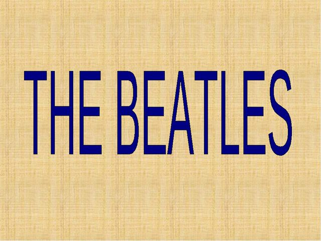 Beatles реферат по английский 6648