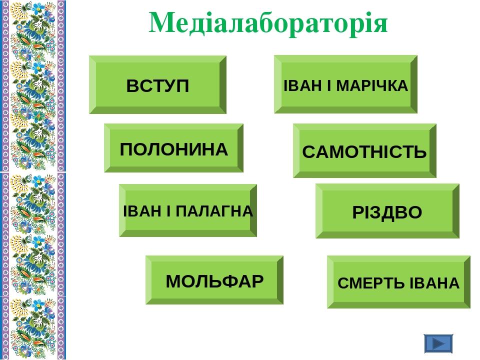 ВСТУП Медіалабораторія