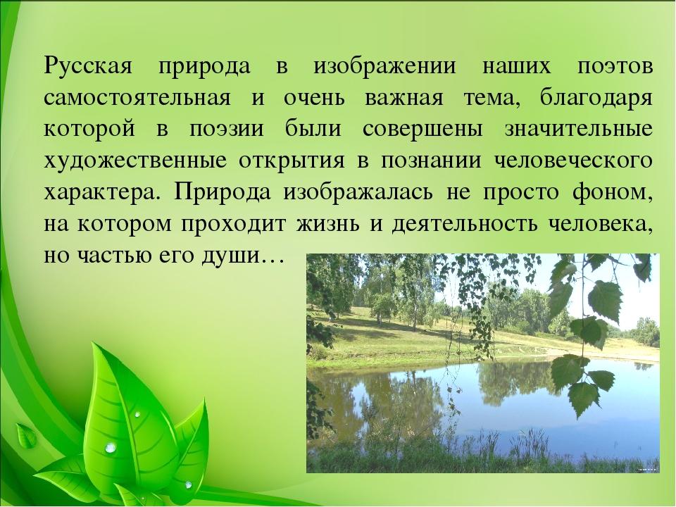 родная природа в русской поэзии с картинками плевать кто