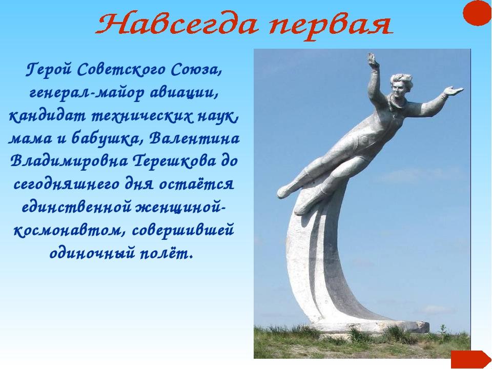 Герой Советского Союза, генерал-майор авиации, кандидат технических наук, мам...