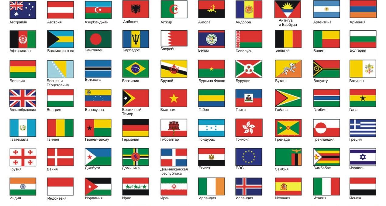 овощная смесь флаги современных стран фото с названиями где