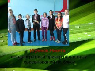 Игумнов Никита - неоднократный призер областных соревнований по боксу
