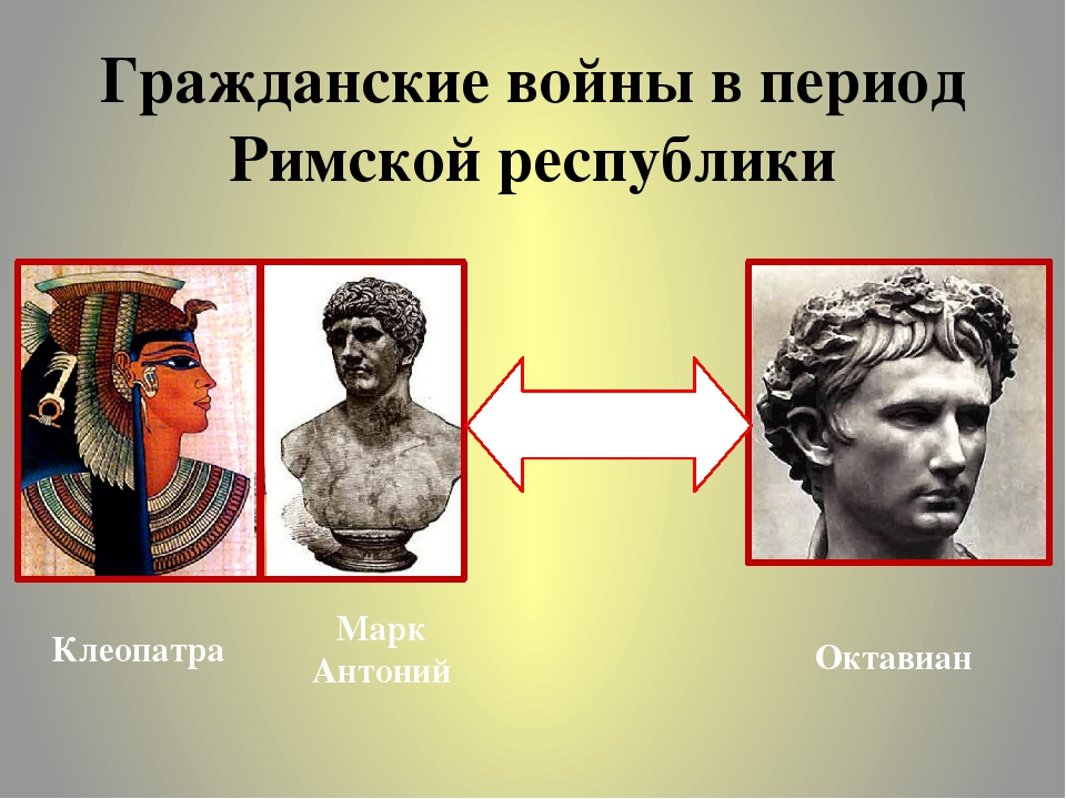 Гражданские войны в период Римской республики Борьба за власть Клеопатра Марк...