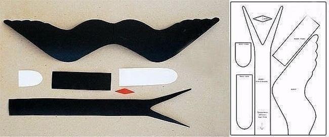 Как сделать маску ласточки своими руками 63
