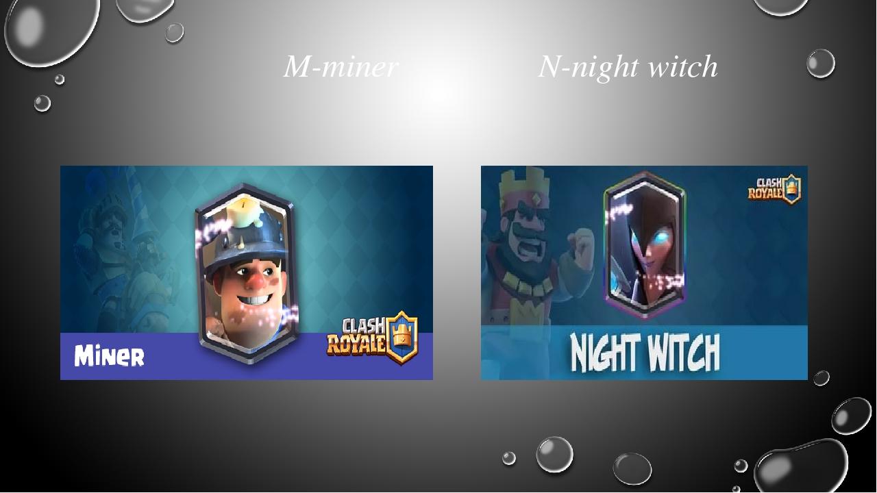 M-miner N-night witch