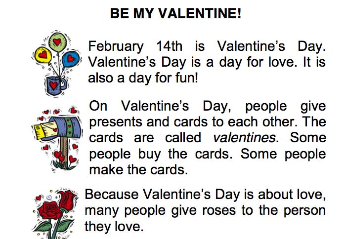 Valentine's day esl