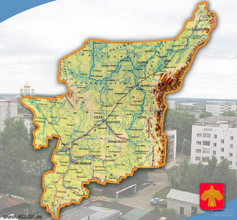 коми фото карты республика