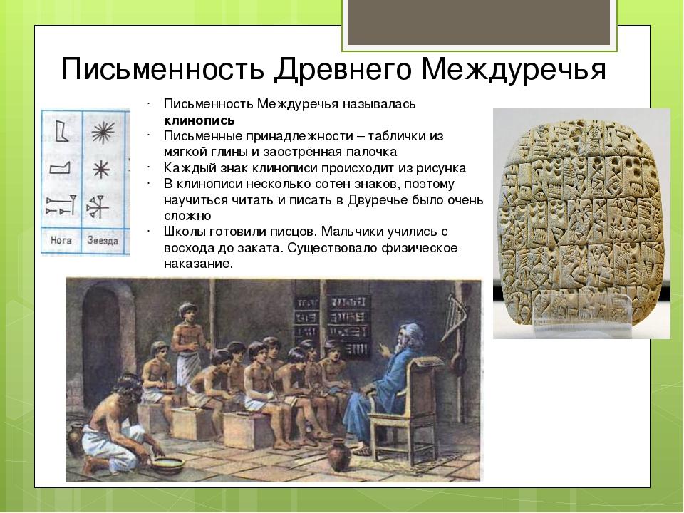 Письменность Древнего Междуречья Письменность Междуречья называлась клинопись...