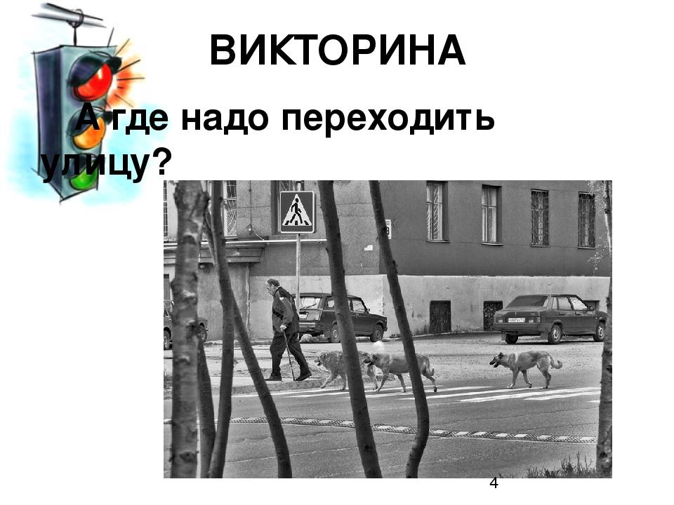 А где надо переходить улицу? ВИКТОРИНА