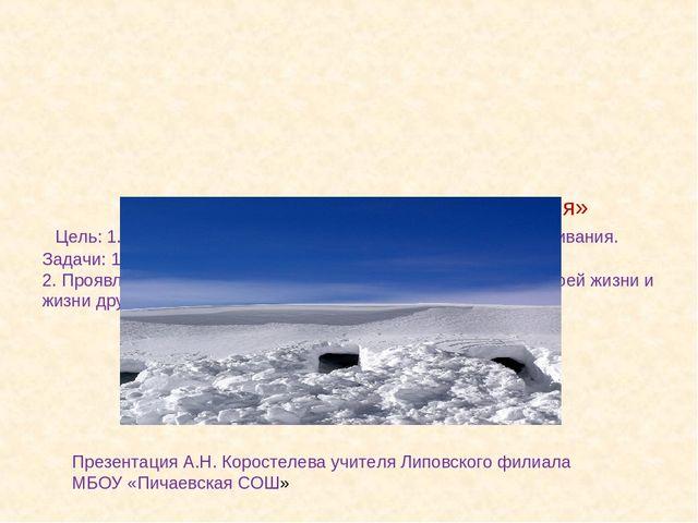 Тема: «Снегопад и правила выживания» Цель: 1. Познакомить с видами снегопадо...