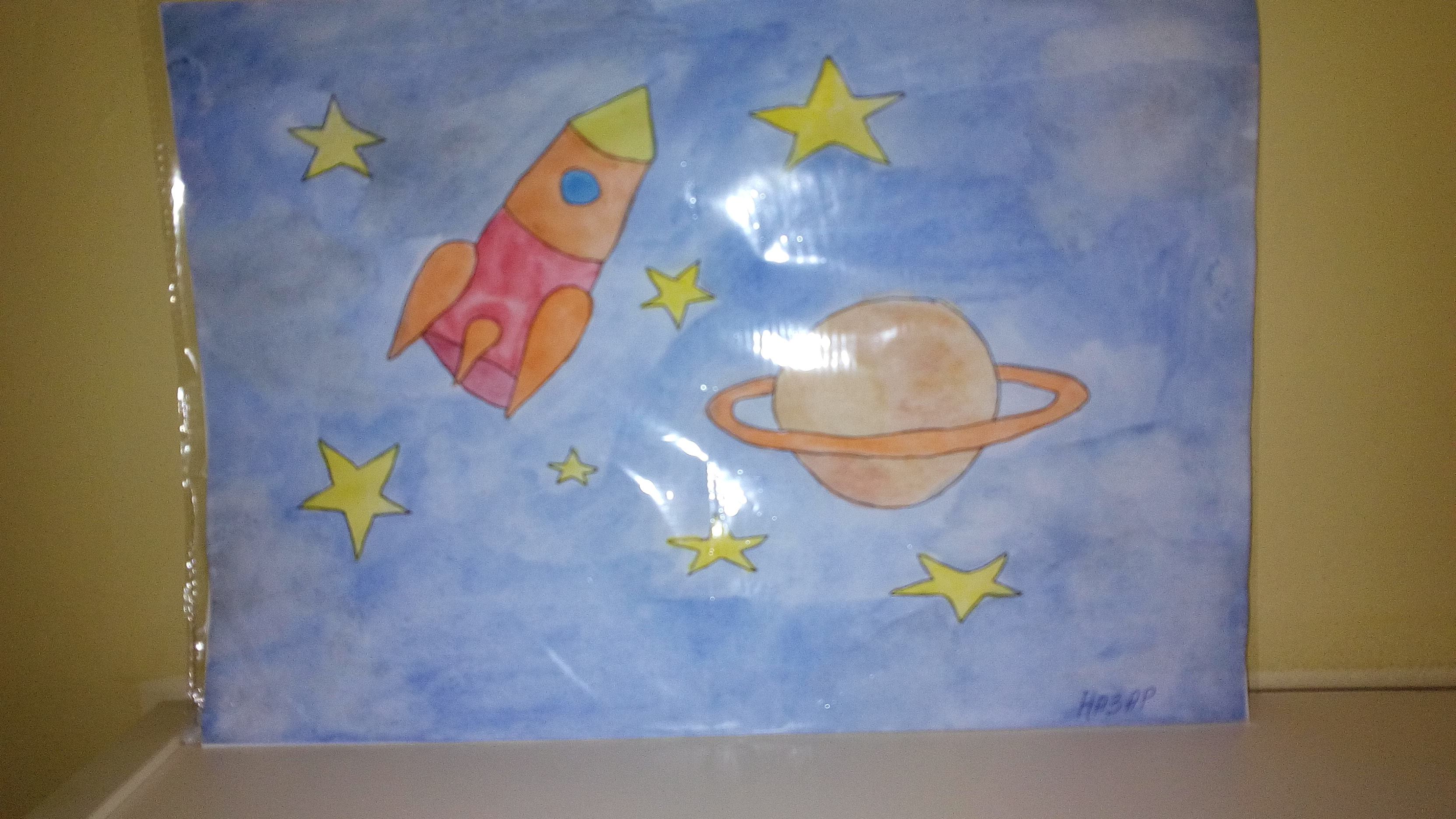 Поделка на тему космос в детский 23