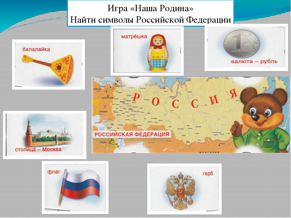 Игра «Наша Родина» Найти символы Российской Федерации