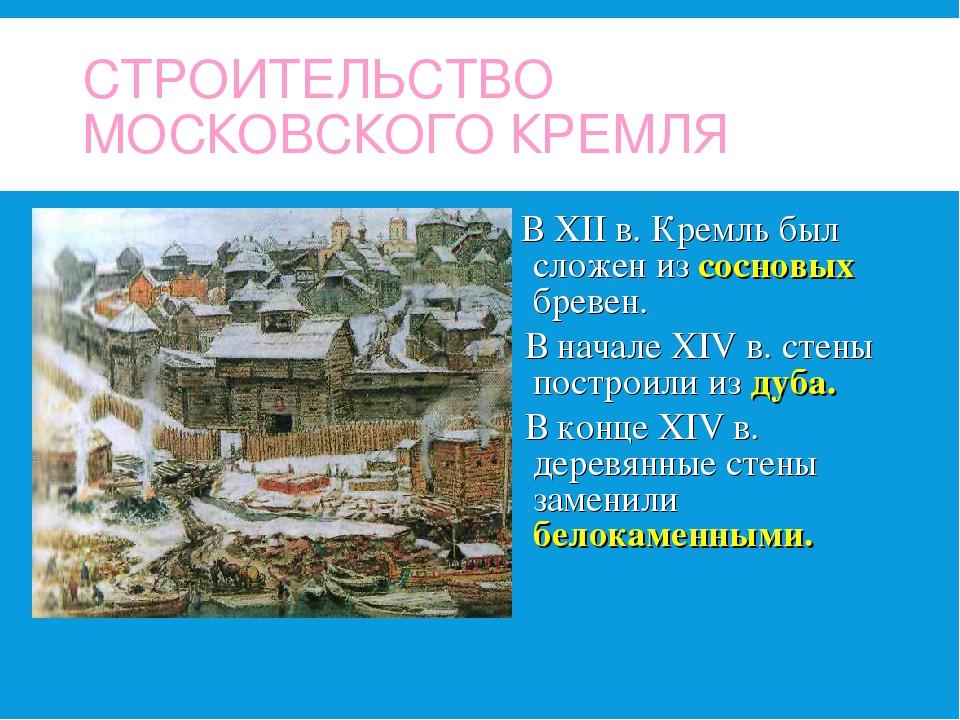 кто строил кремль в москве