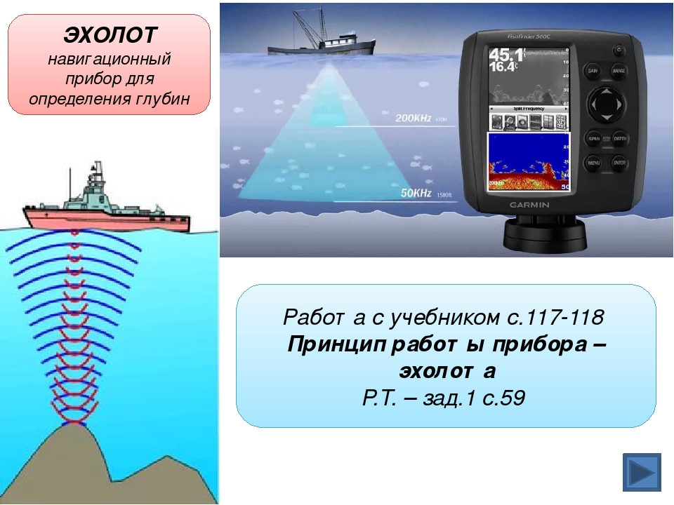 эхолот для измерения глубины