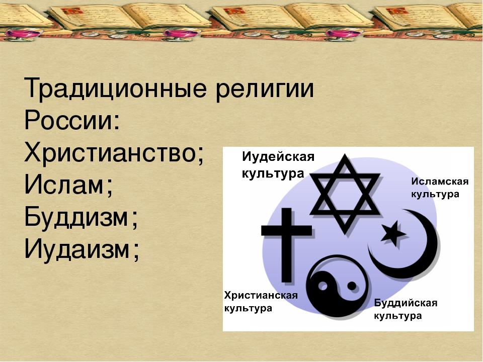 религии россии сообщение