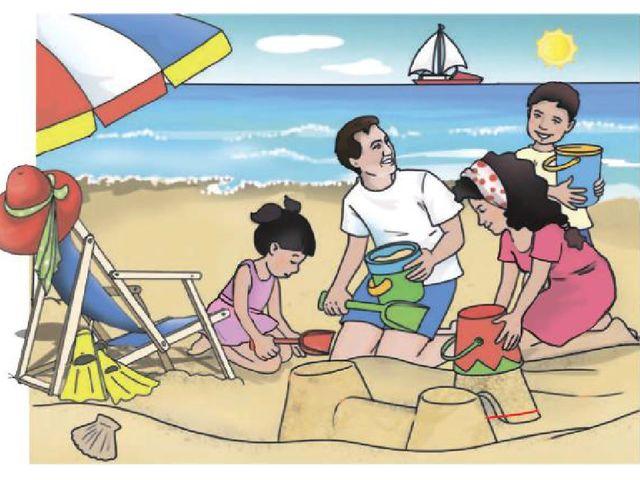 Отбасылық демалыс Әкесі, анасы және балалары 2 апта теңіз шипажайында болды....