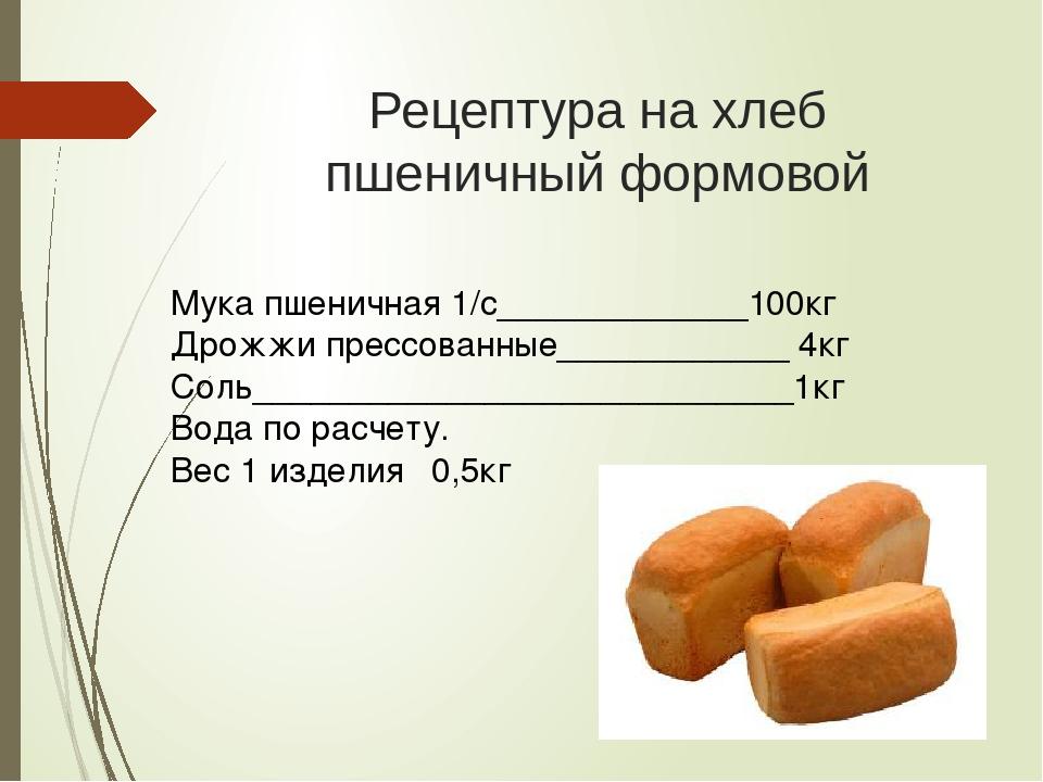 Рецептура хлебобулочных изделий гост