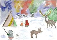 Рисунок природа на север
