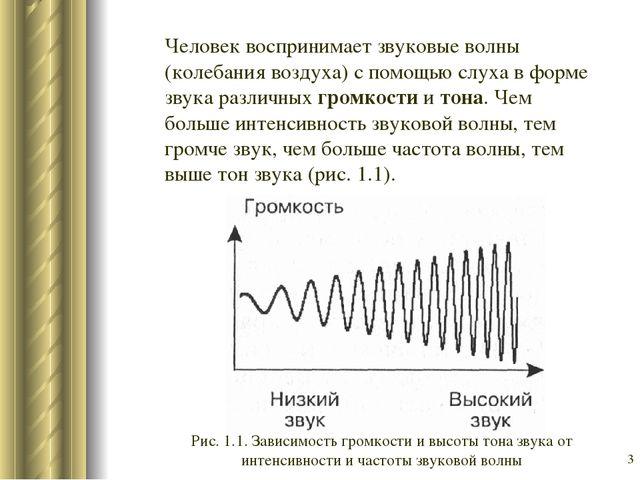 * Человек воспринимает звуковые волны (колебания воздуха) с помощью слуха в ф...