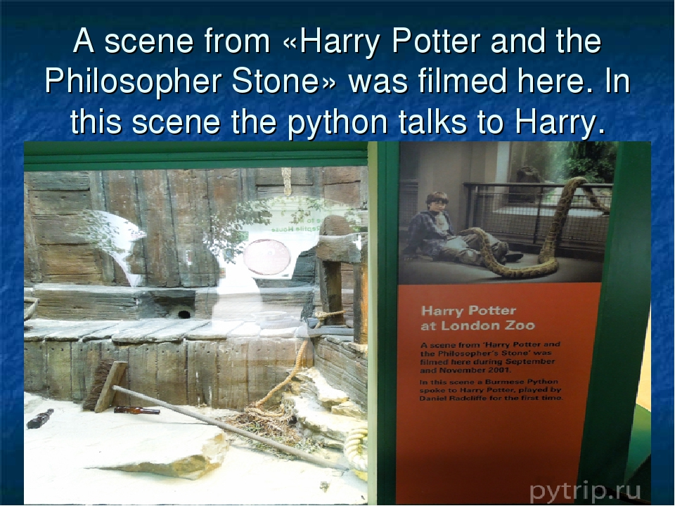 A scene from «Harry Potter and the Philosopher Stone» was filmed here. In thi...
