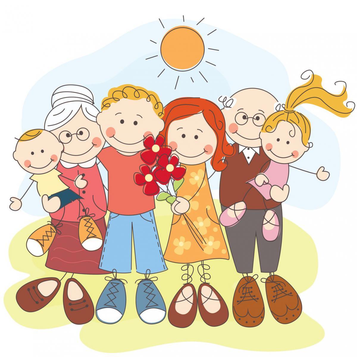 Картинки по запросу семья нарисованные картинки
