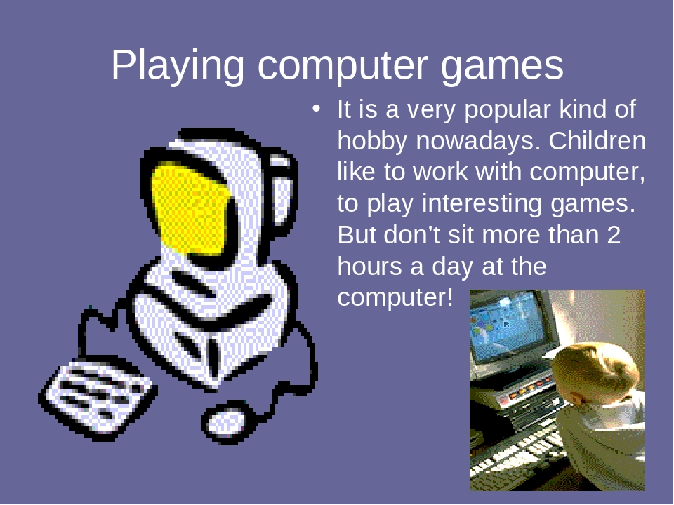 essay about computer games Video games are perhaps the most popular and widespread form of entertainment at present companies that develop video games earn billions of dollars and constantly invest in research aimed to make virtual reality look like reality.