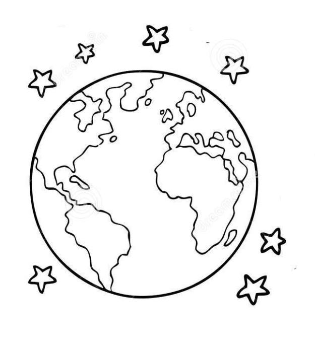 Черно-белые картинки планета земля
