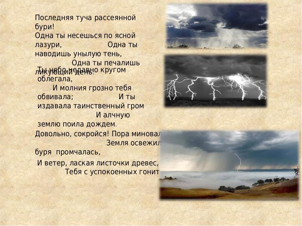 картинки к стиху туча пушкин интересное