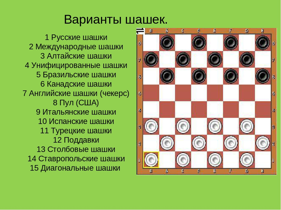 История игры в шашки в картинках
