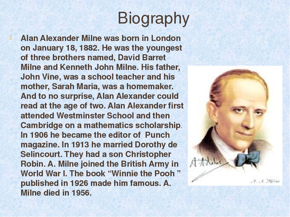 an analysis of the beautiful stories of alan alexander milne The 'prequel' to alan alexander milne's 1926 collection of stories, winnie the pooh, begins in 1914 in winnipeg, canada.