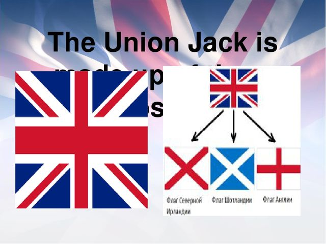 The Union Jack is made up of three crosses.