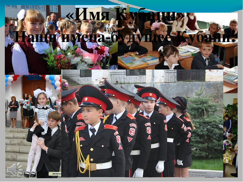 «Имя Кубани» Наши имена-будущее Кубани!