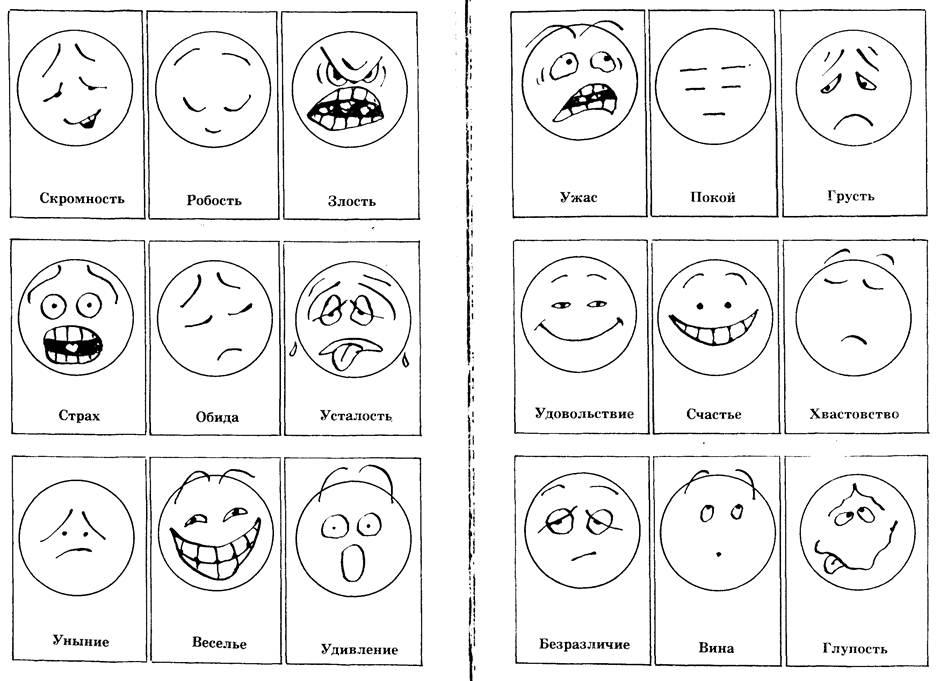 Таблица эмоций в картинках