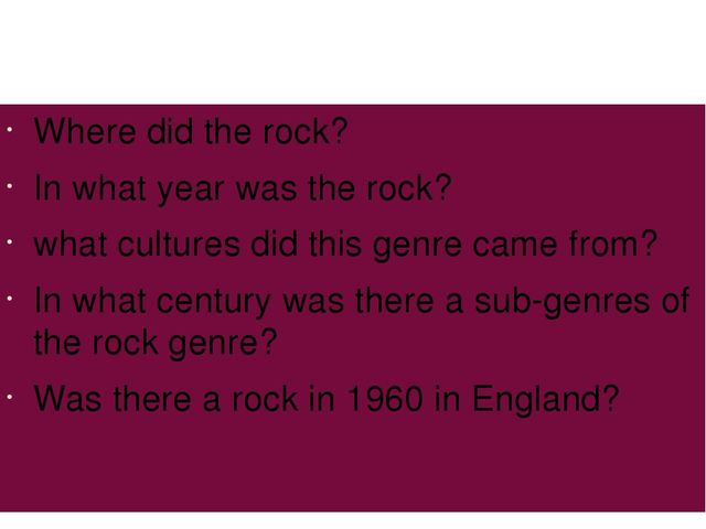 Where did the rock? In what year was the rock? what cultures did this genre...
