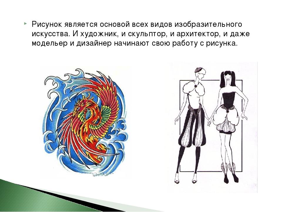 Рисунок является основой всех видов изобразительного искусства. И художник, и...