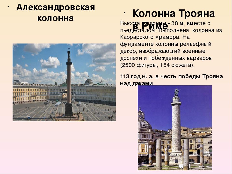 Александровская колонна Материал – монолит розового гранита. Венчает колонну...