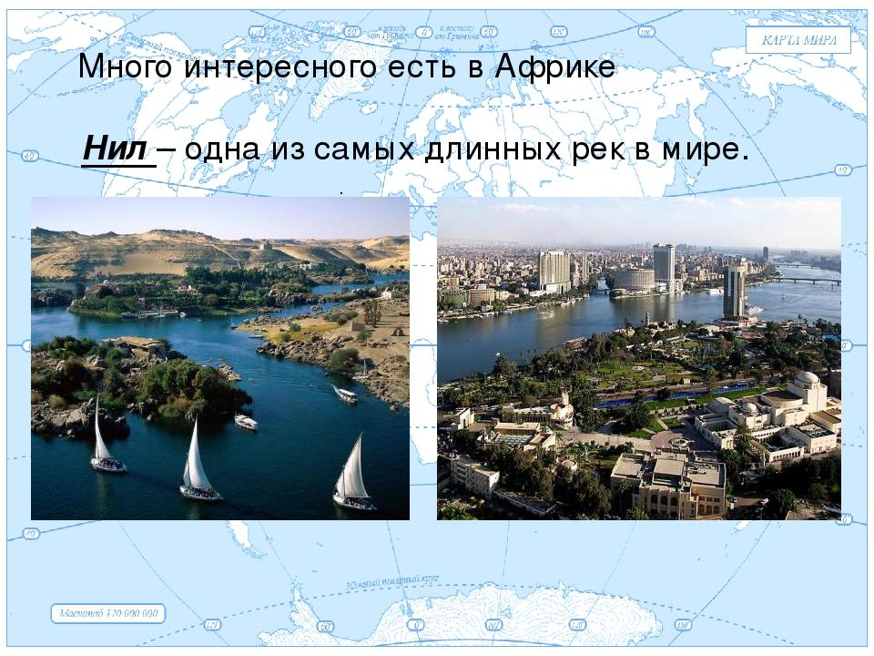 Евразия . Много интересного есть в Африке Нил – одна из самых длинных рек в м...