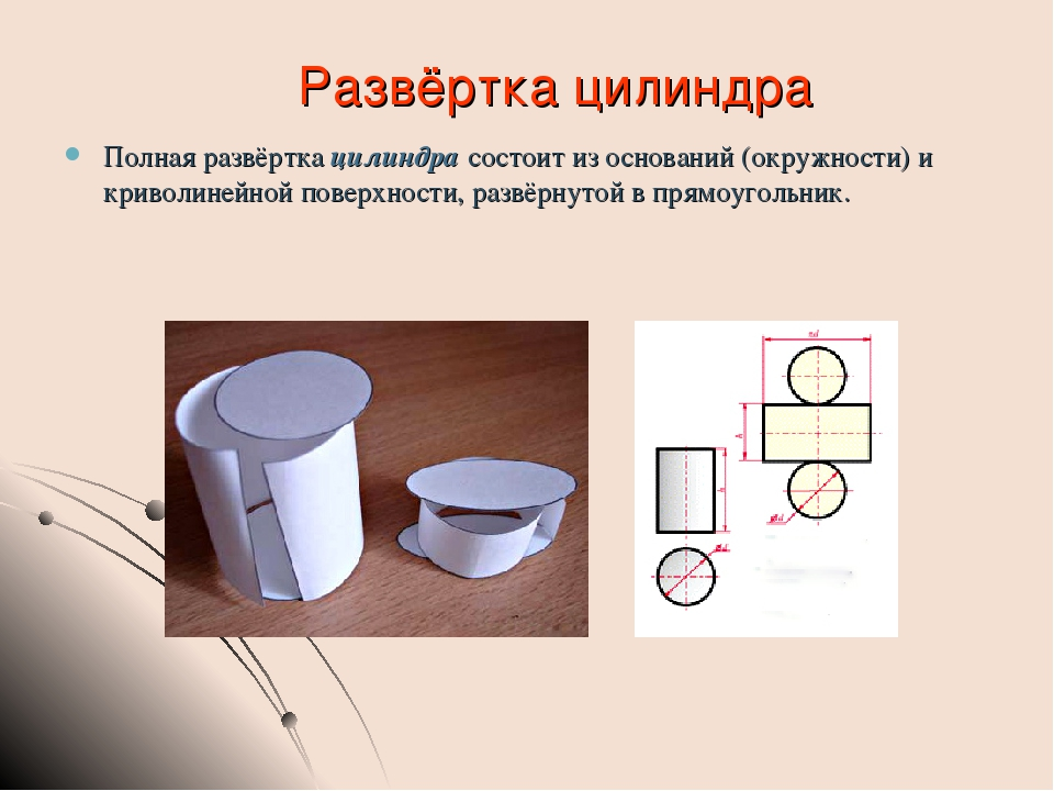 Как сделать развёрток цилиндра 359