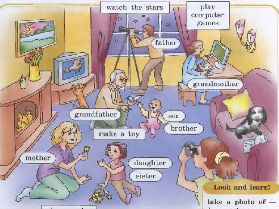 Английский язык тема семейные отношения