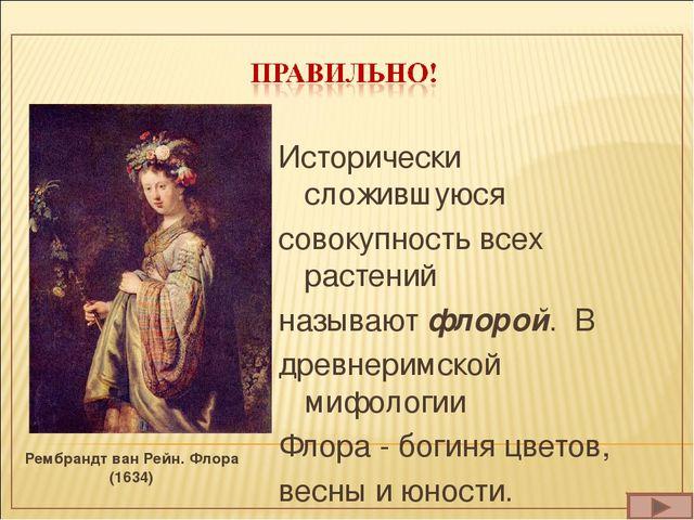 Рембрандт ван Рейн. Флора (1634) Исторически сложившуюся совокупность всех ра...