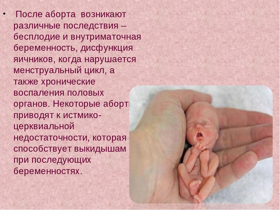 неделю чем секс грозит через аборта после