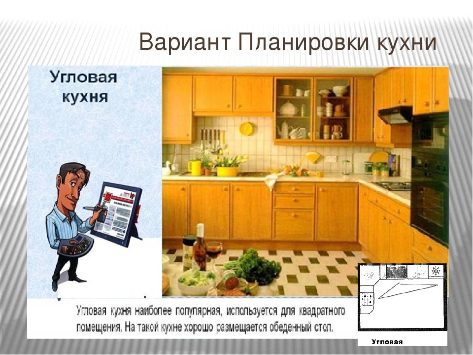 Вариант Планировки кухни